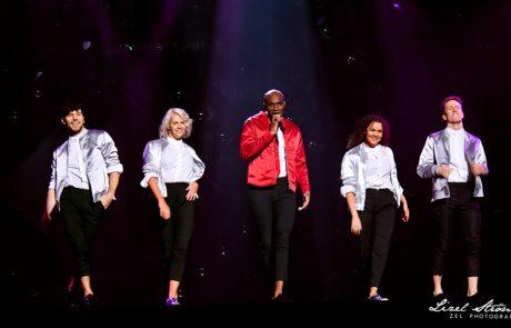 Boris René with four dancers